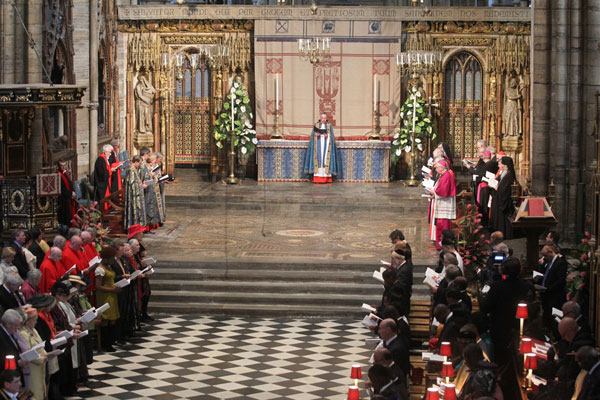 Diamond Jubilee Celebrations at Westminster Abbey