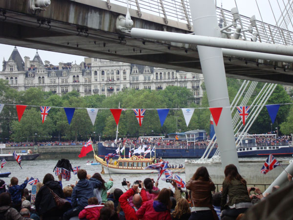 Queen's Diamond Jubilee Flotilla on the Thames