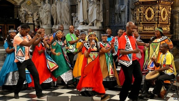 Nelson Mandela Service at Westminster Abbey