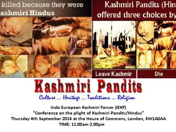 Conference on the plight of Kashmiri Pandits/Hindus