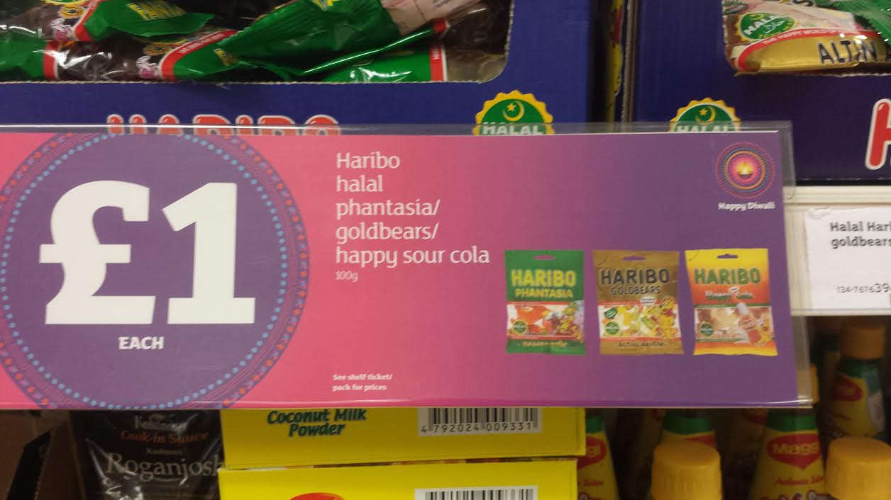 Hindu Council UK (HCUK) raises concerns with Sainsbury's for selling Haribo Sweets which contain beef gelatin, as part of their Diwali Promotion Campaign and obtains apology