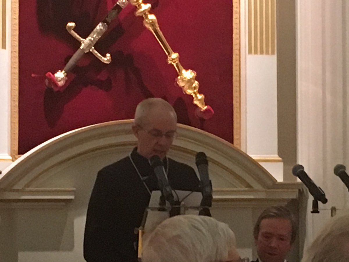 Lord Mayor hosts the Archbishops and Bishops 2016 Dinner at Mansion House