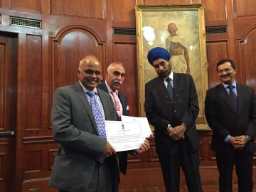 Hindu Council UK receives appreciation certificate from the High Commissioner of India in London