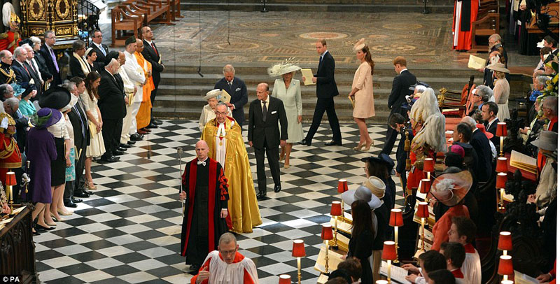 Queen's Diamond Coronation Service at Westminster Abbey
