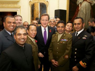 Hindu members of the Armed Forces at 10 Downing Street to celebrate Diwali