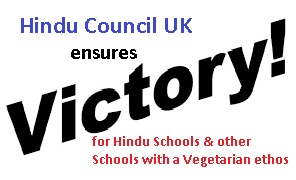 Hindu Council UK (HCUK) helps to change Regulations to ensure vegetarian choice for school children