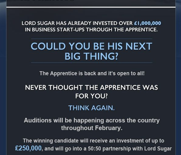 The Apprentice is looking for new candidates!