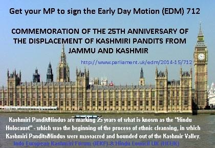 Hindu Council UK supports Early Day Motion in UK Parliament