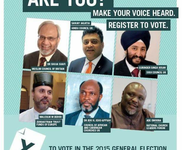 Hindu Council UK (HCUK) launches its biggest ever campaign and joins other Community Organisations to encourage Voter Registration for the upcoming UK General Elections